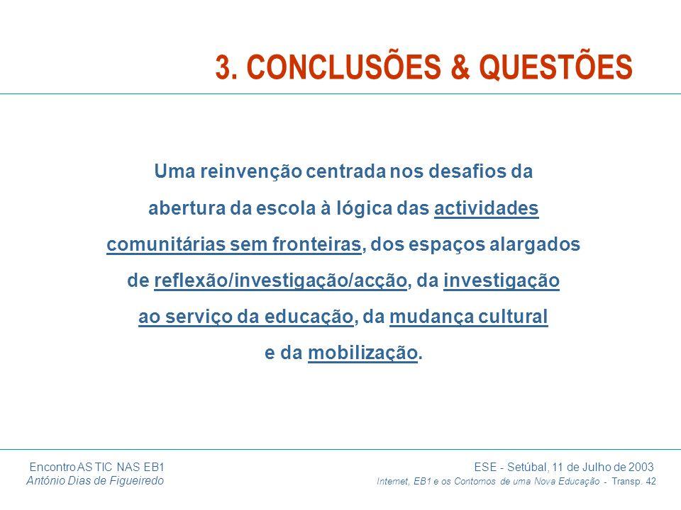 3. CONCLUSÕES & QUESTÕES