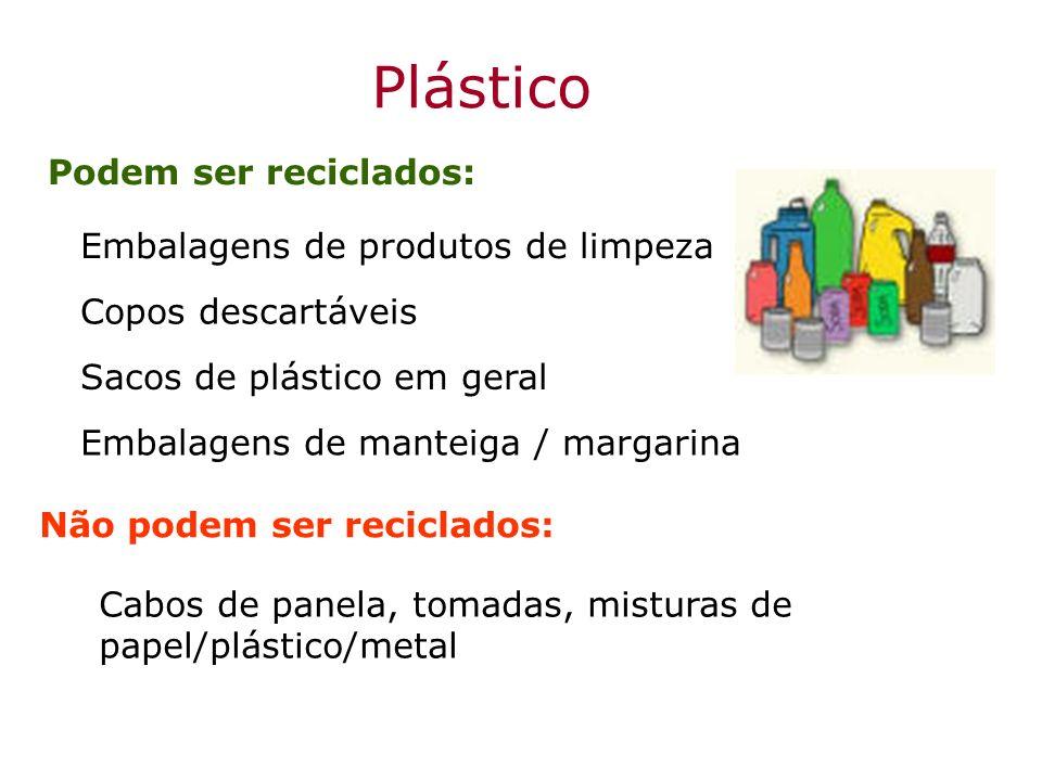 Plástico Podem ser reciclados: Embalagens de produtos de limpeza