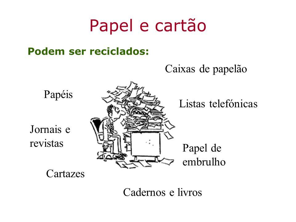 Papel e cartão Caixas de papelão Papéis Listas telefónicas