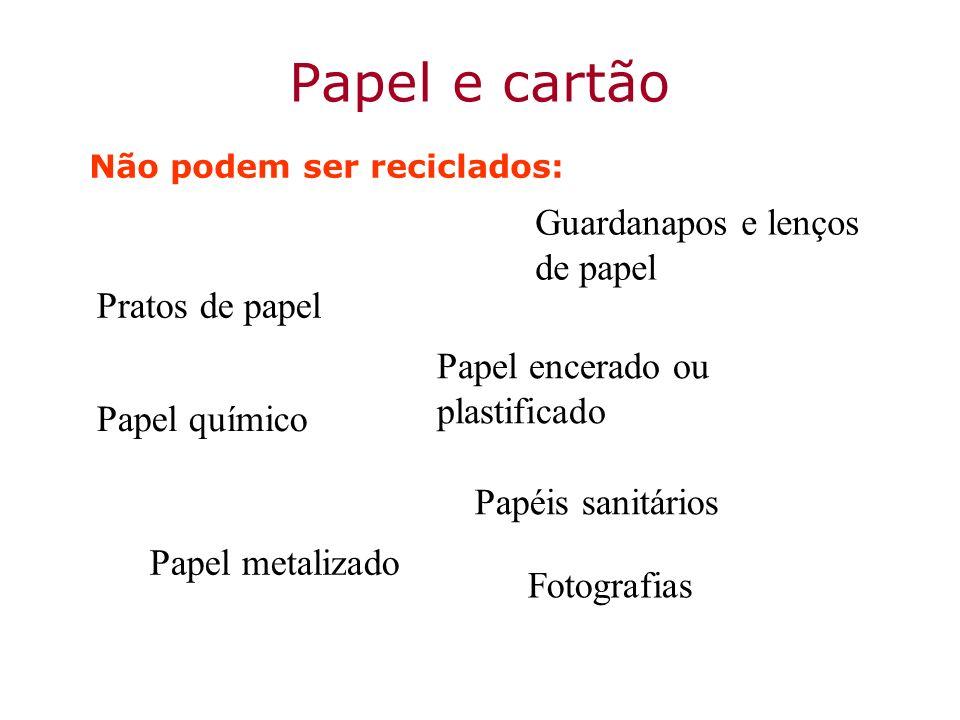 Papel e cartão Guardanapos e lenços de papel Pratos de papel
