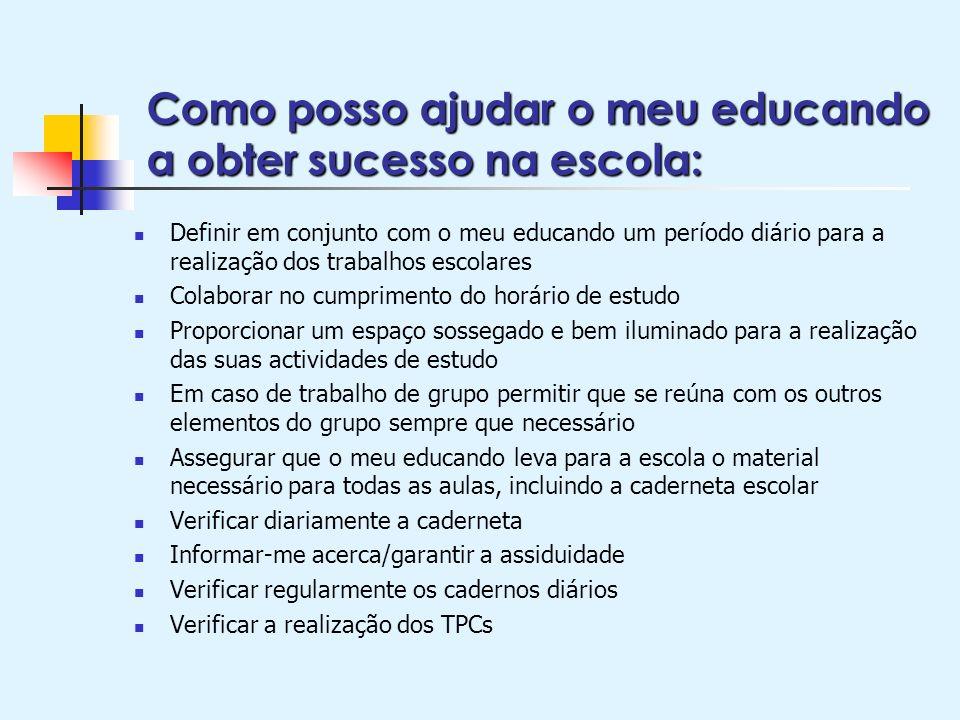 Como posso ajudar o meu educando a obter sucesso na escola: