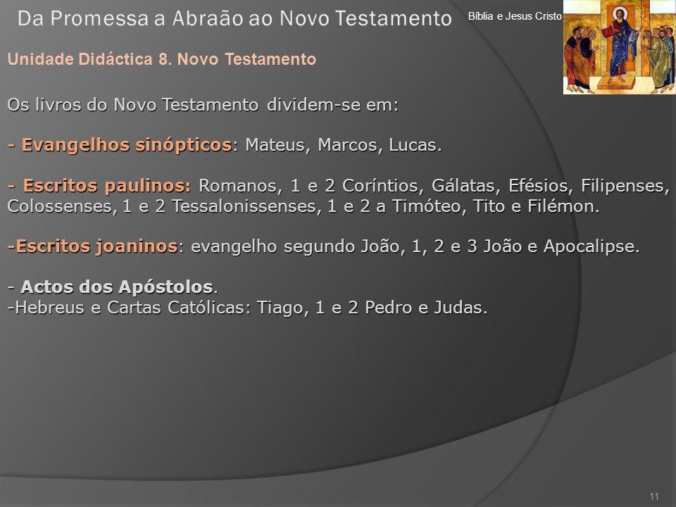 Unidade Didáctica 8. Novo Testamento