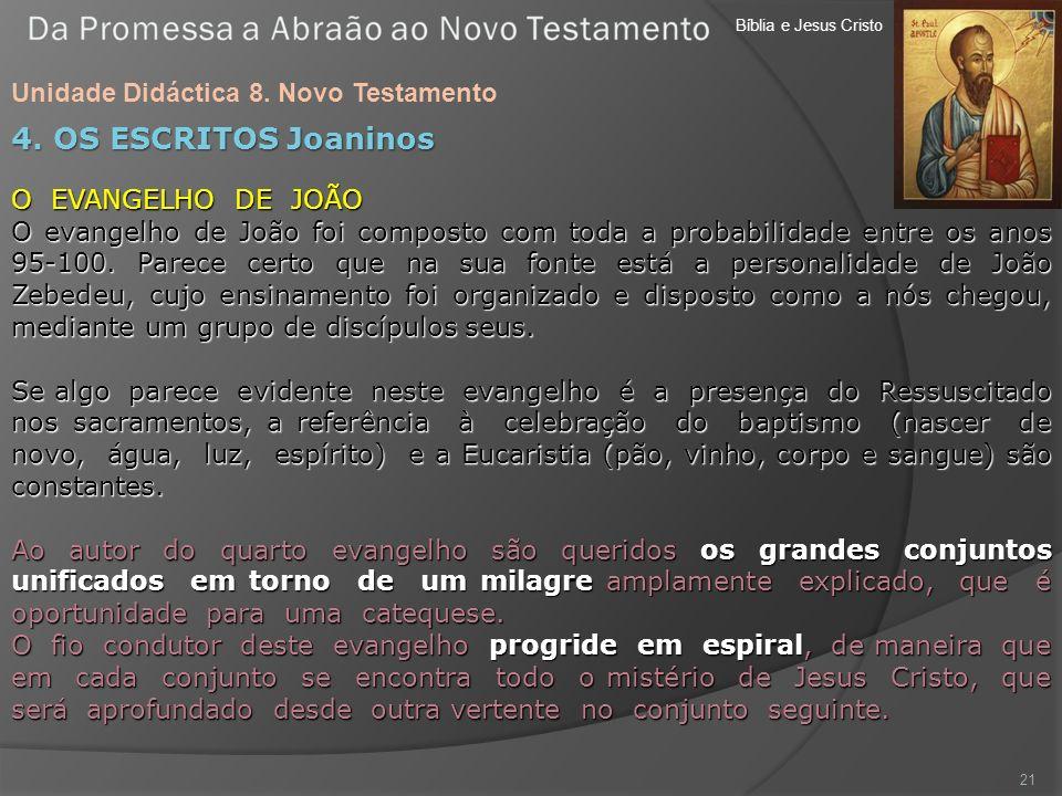 4. OS ESCRITOS Joaninos Unidade Didáctica 8. Novo Testamento