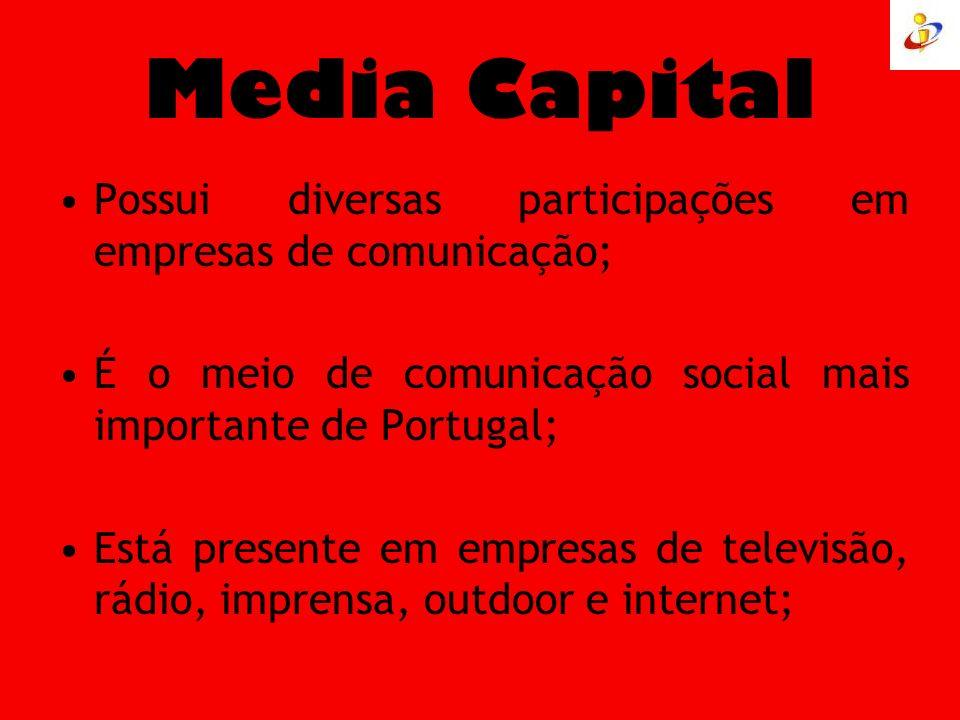Media Capital Possui diversas participações em empresas de comunicação; É o meio de comunicação social mais importante de Portugal;
