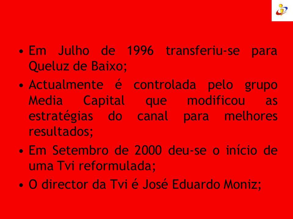 Em Julho de 1996 transferiu-se para Queluz de Baixo;