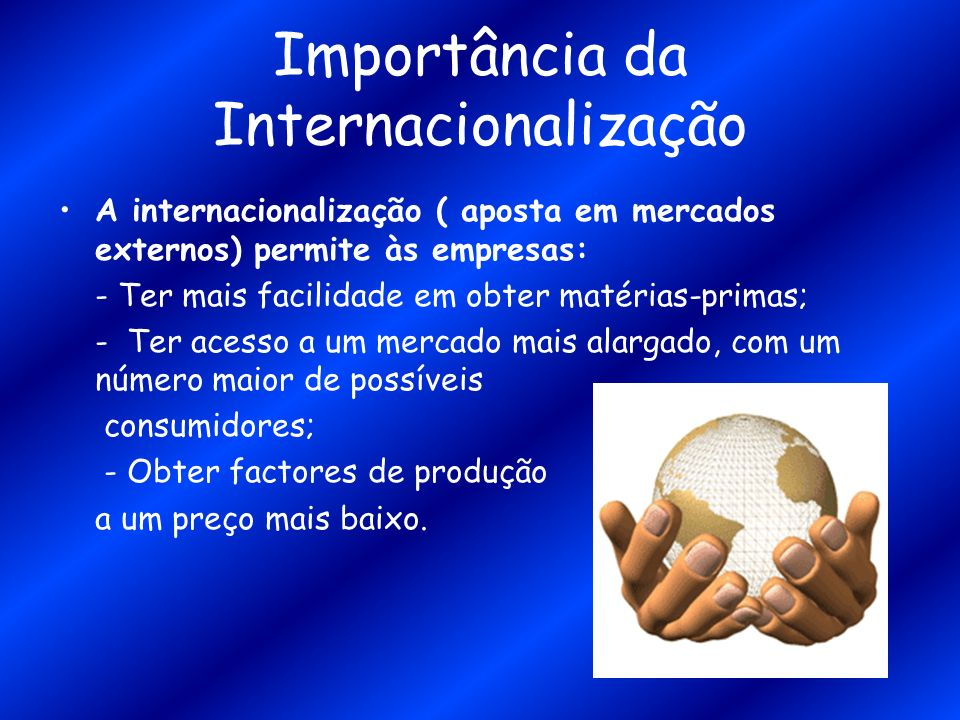 Importância da Internacionalização