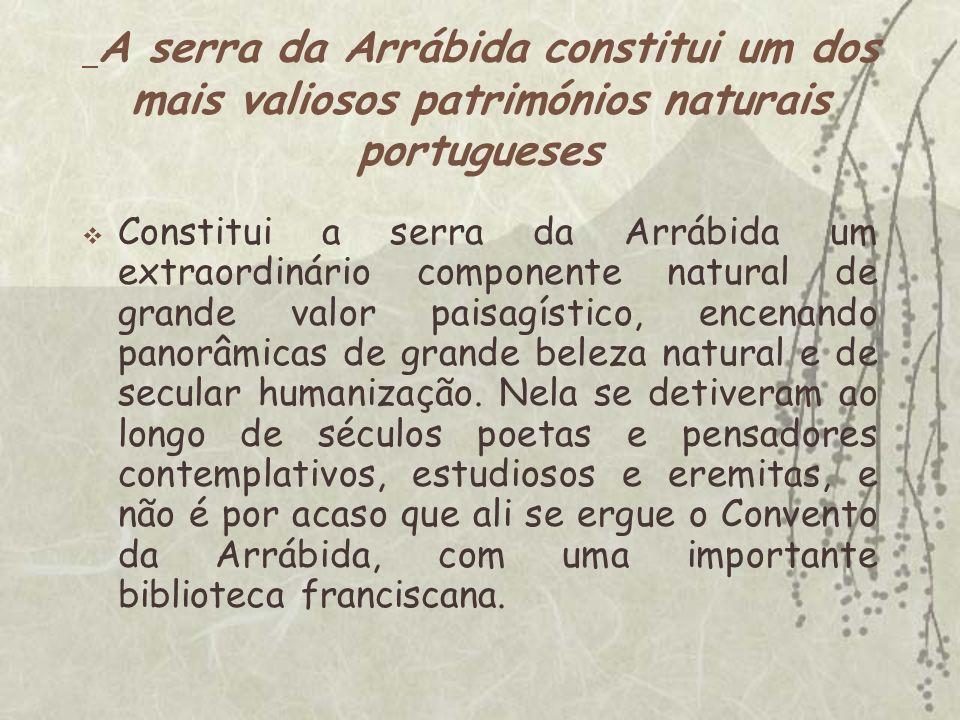 A serra da Arrábida constitui um dos mais valiosos patrimónios naturais portugueses