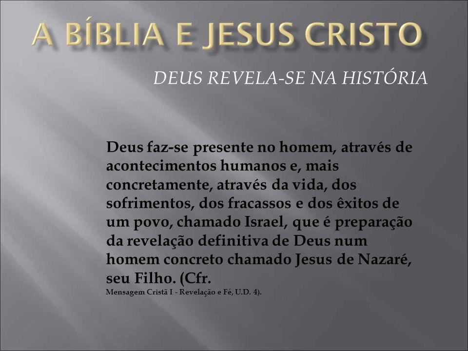 DEUS REVELA-SE NA HISTÓRIA