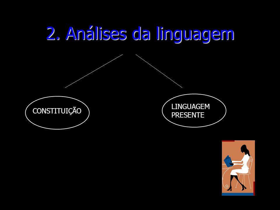 2. Análises da linguagem LINGUAGEM PRESENTE CONSTITUIÇÃO