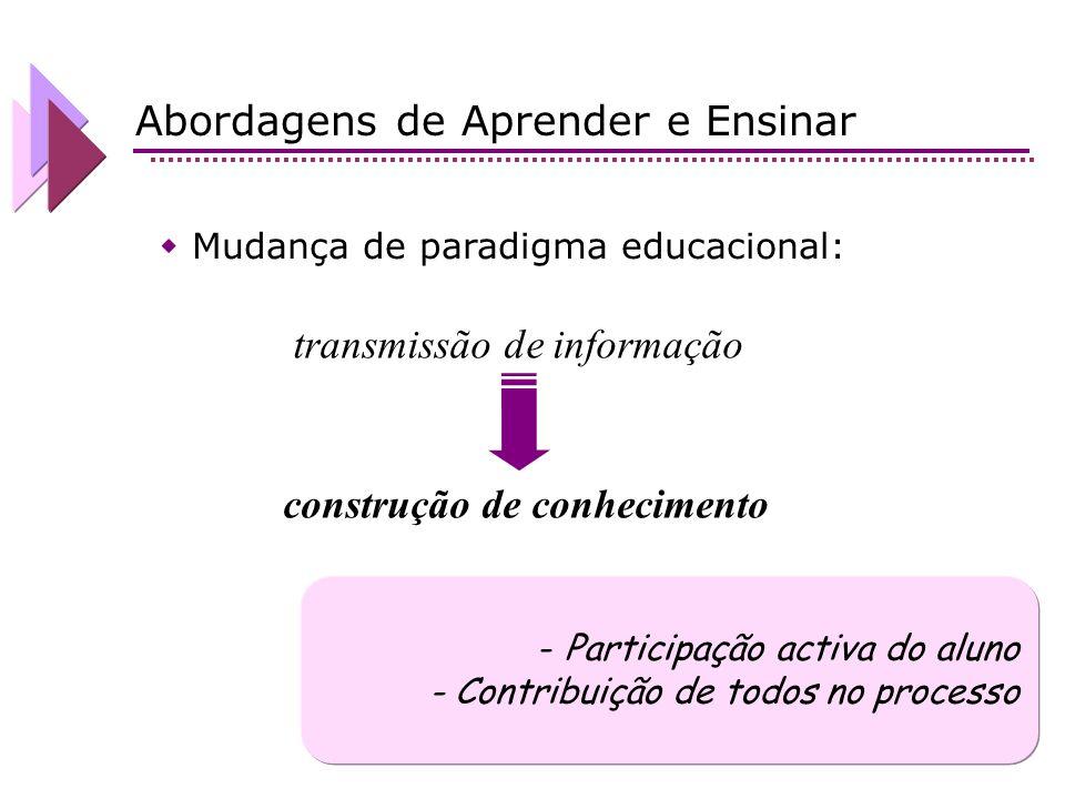 construção de conhecimento
