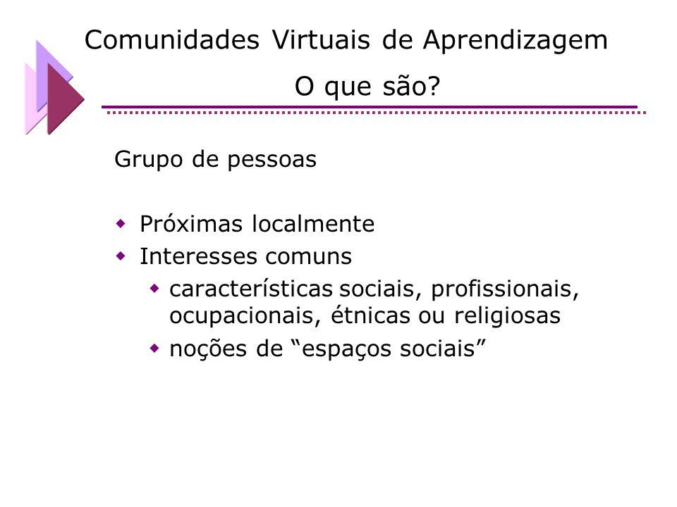 Comunidades Virtuais de Aprendizagem O que são