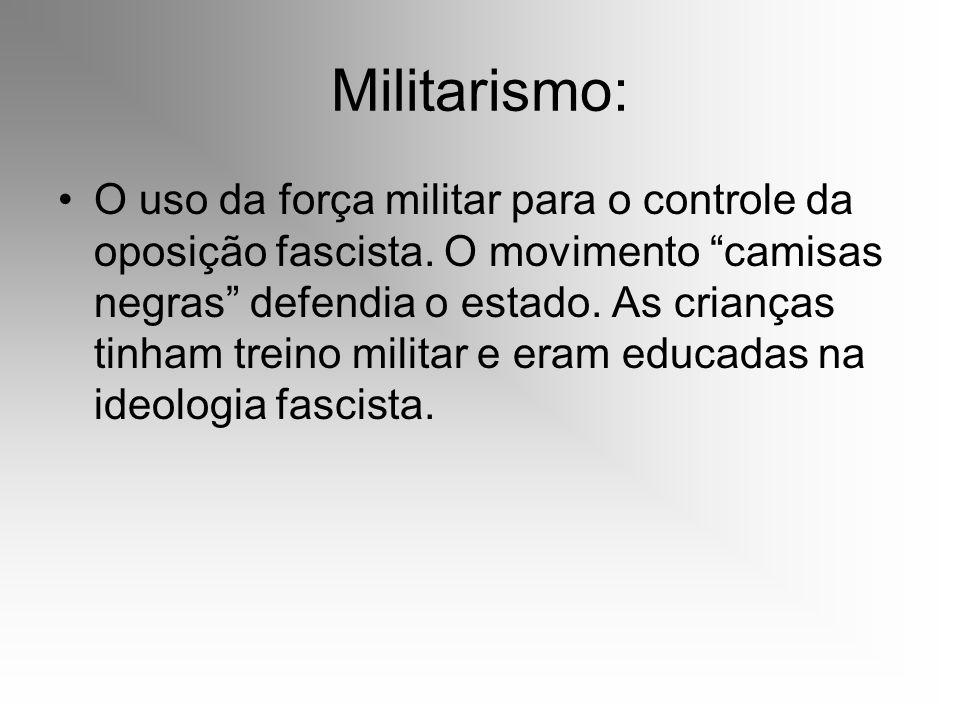 Militarismo: