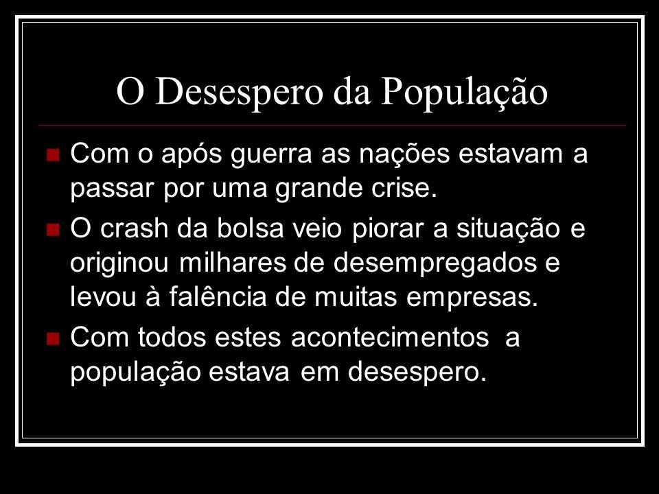 O Desespero da População