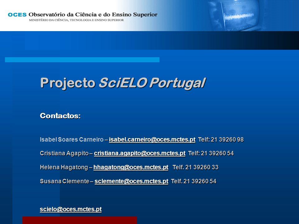 Projecto SciELO Portugal