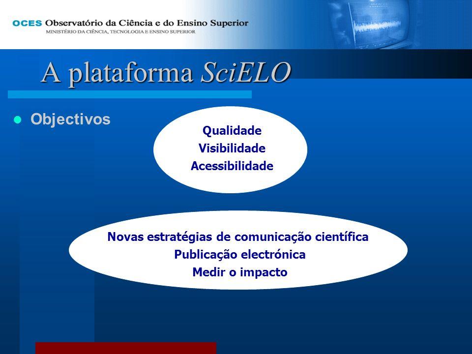Novas estratégias de comunicação científica Publicação electrónica