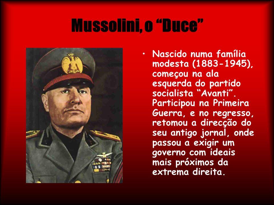 Mussolini, o Duce