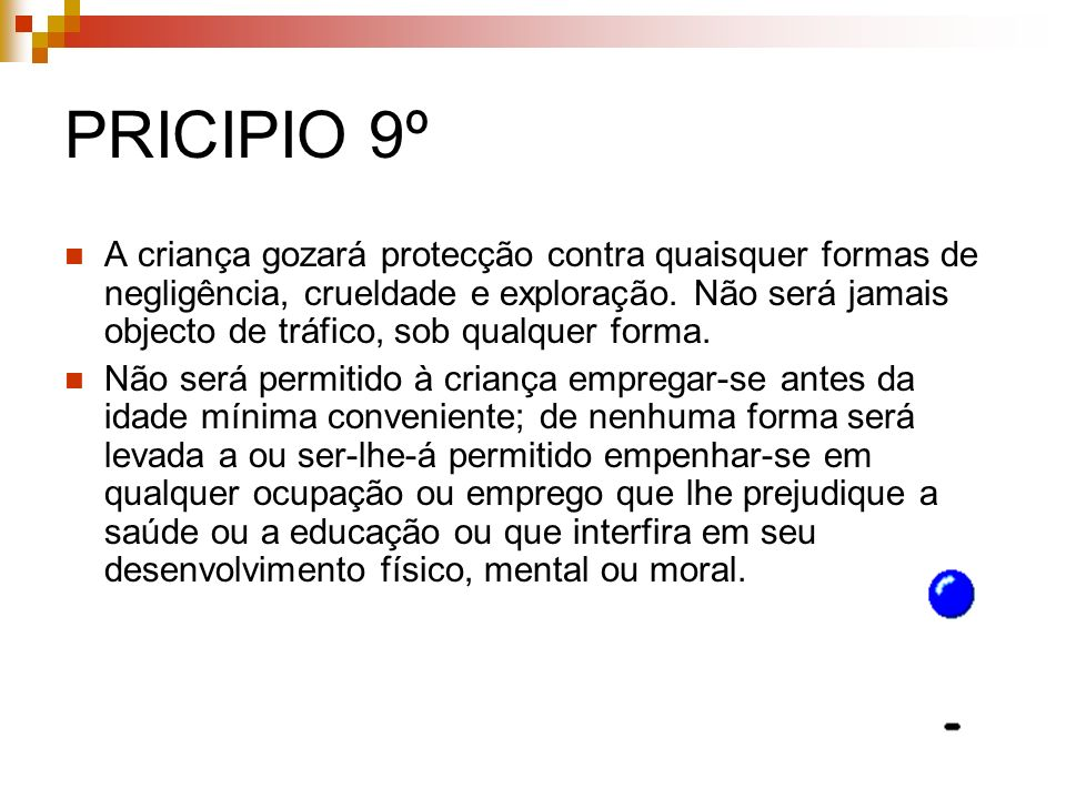 PRICIPIO 9º