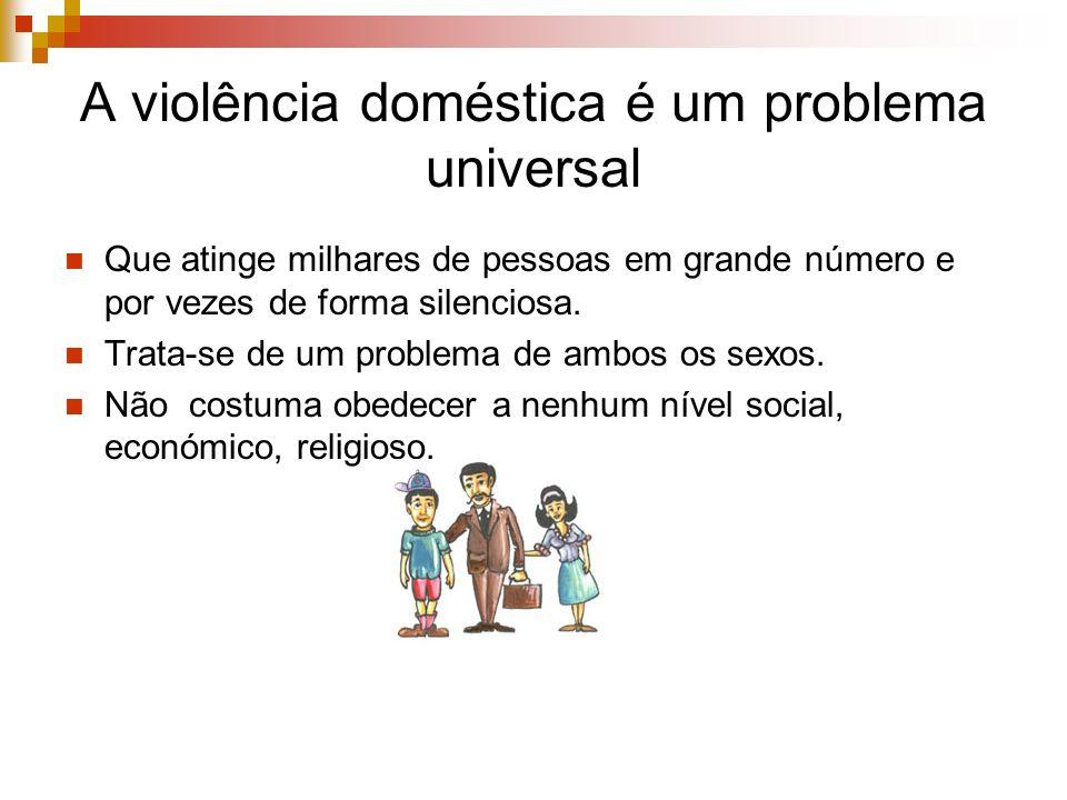 A violência doméstica é um problema universal