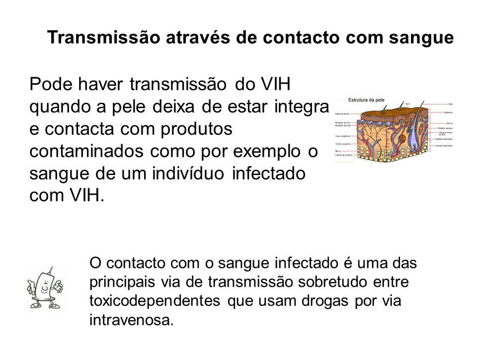 Transmissão através de contacto com sangue
