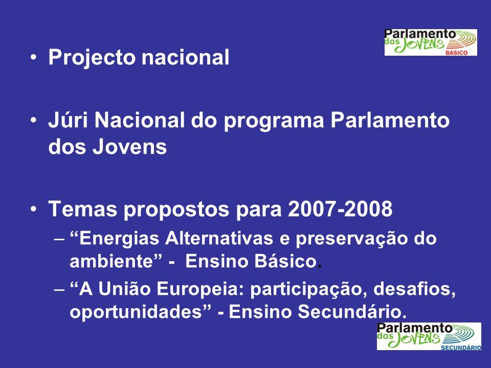 Júri Nacional do programa Parlamento dos Jovens