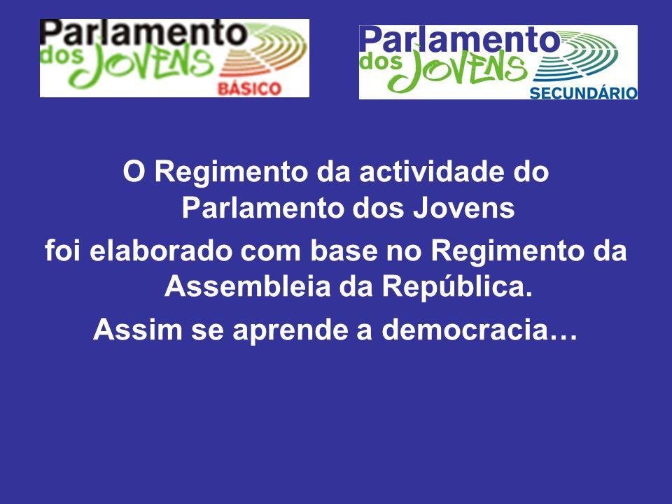 O Regimento da actividade do Parlamento dos Jovens