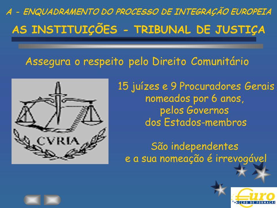 Assegura o respeito pelo Direito Comunitário