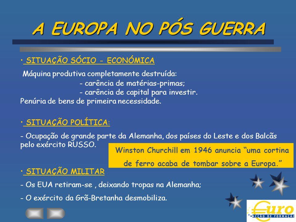A EUROPA NO PÓS GUERRA SITUAÇÃO SÓCIO - ECONÓMICA