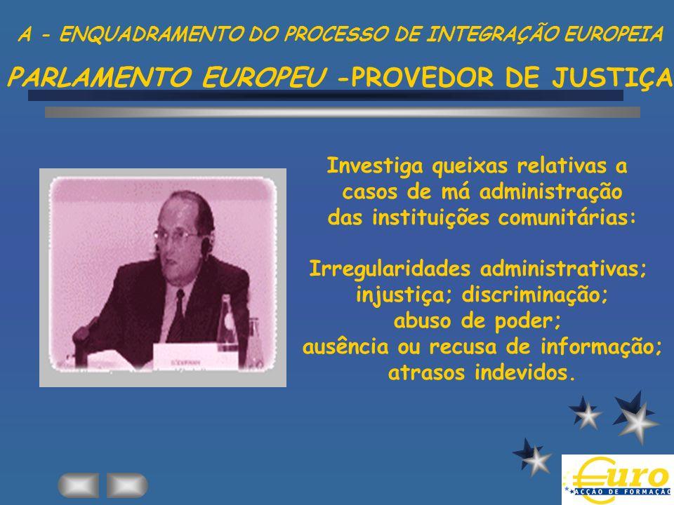 Investiga queixas relativas a casos de má administração