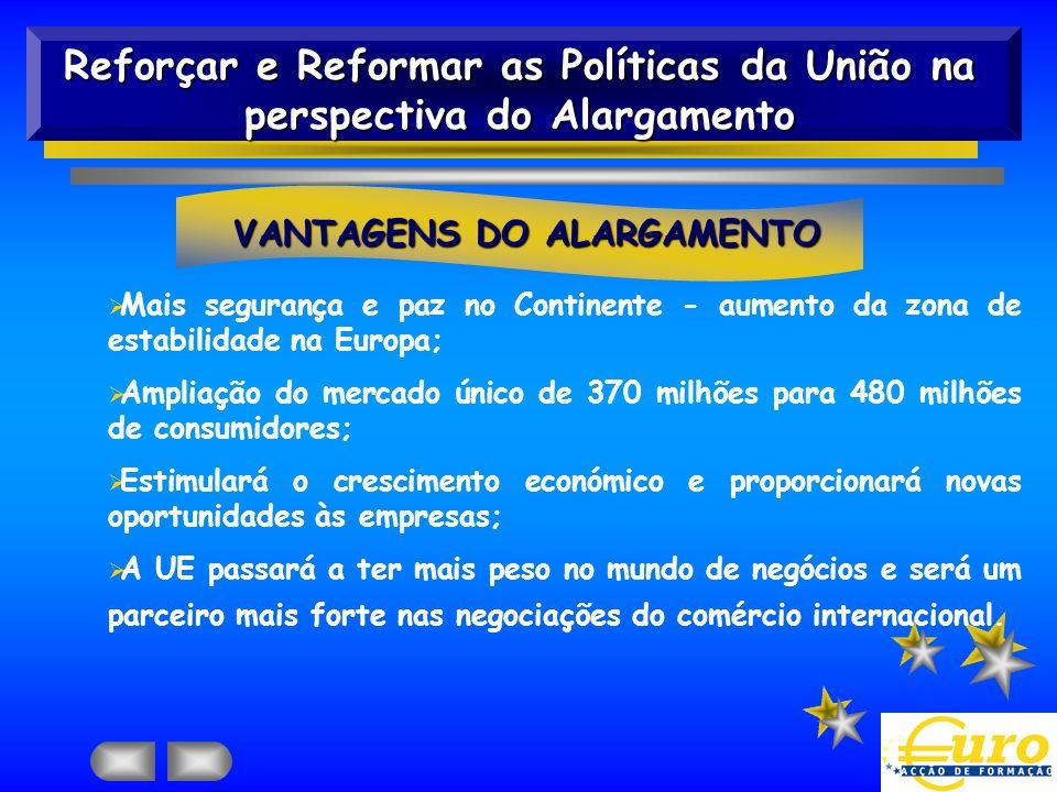 VANTAGENS DO ALARGAMENTO