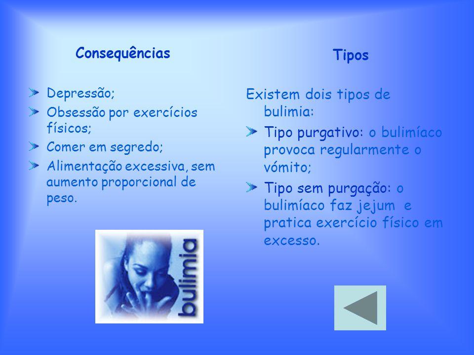 Existem dois tipos de bulimia: