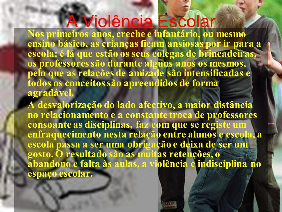 A Violência Escolar