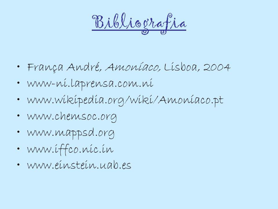Bibliografia França André, Amoníaco, Lisboa, 2004