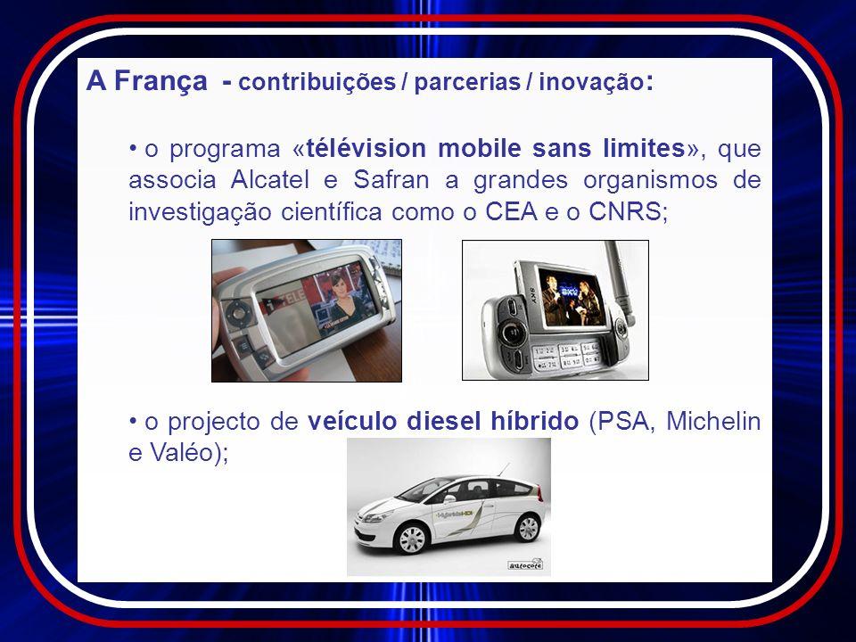 A França - contribuições / parcerias / inovação: