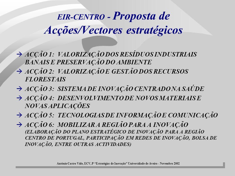 EIR-CENTRO - Proposta de Acções/Vectores estratégicos