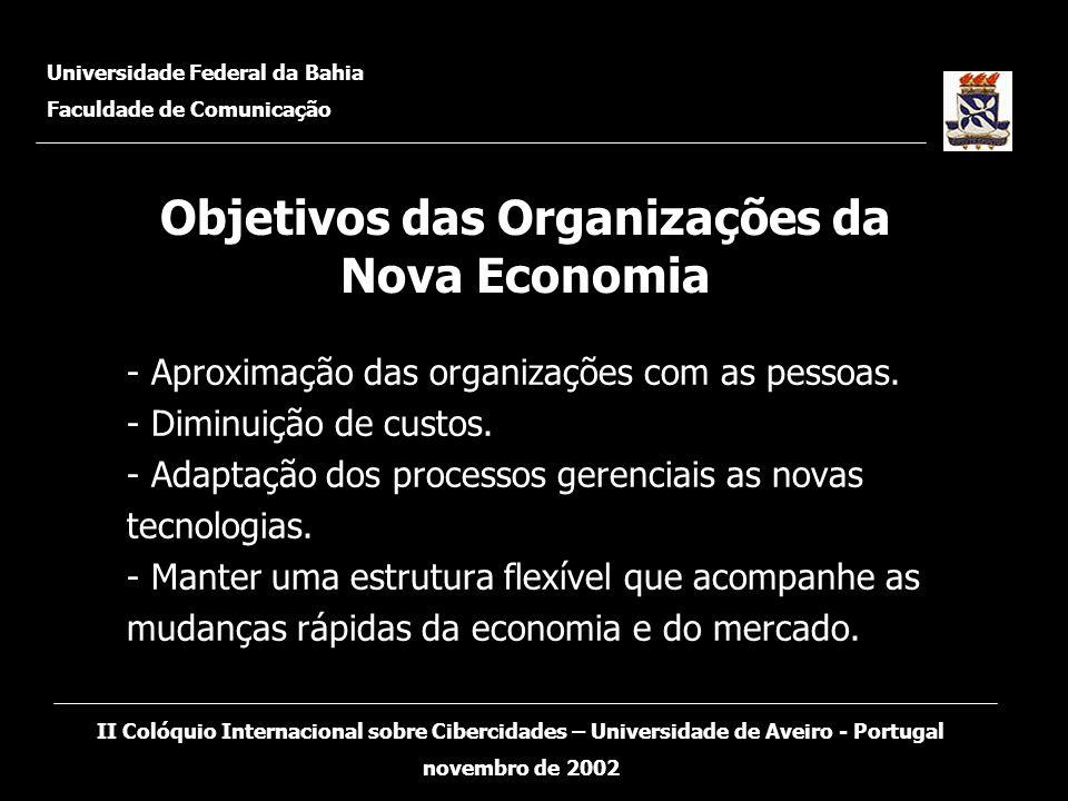 Objetivos das Organizações da Nova Economia