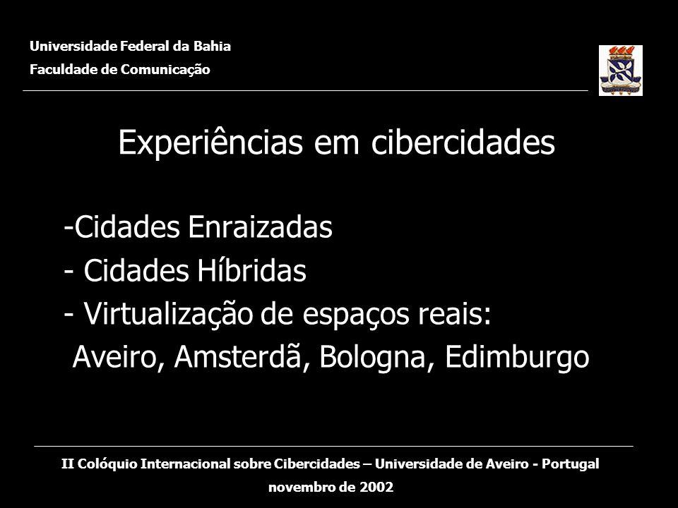 Experiências em cibercidades