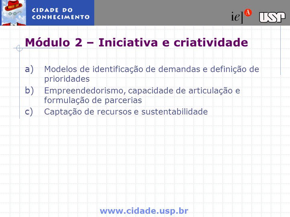 Módulo 2 – Iniciativa e criatividade