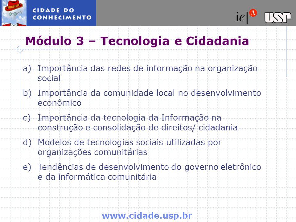Módulo 3 – Tecnologia e Cidadania