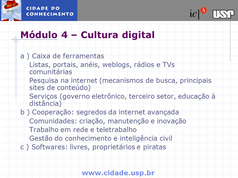 Módulo 4 – Cultura digital