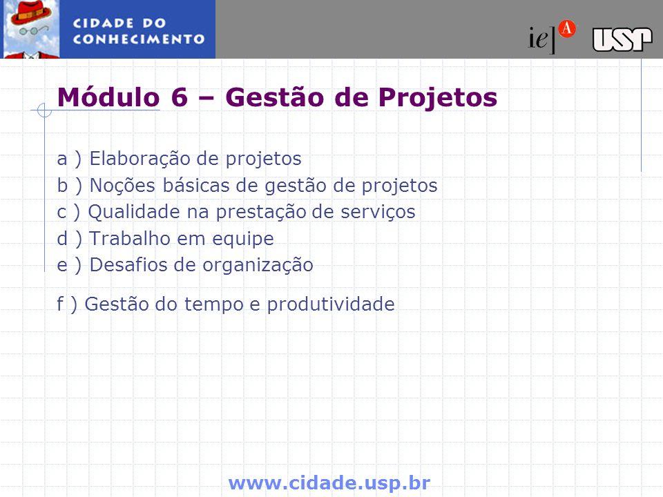 Módulo 6 – Gestão de Projetos