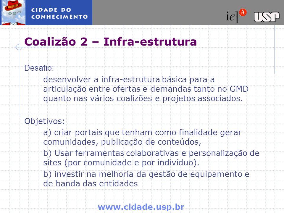 Coalizão 2 – Infra-estrutura