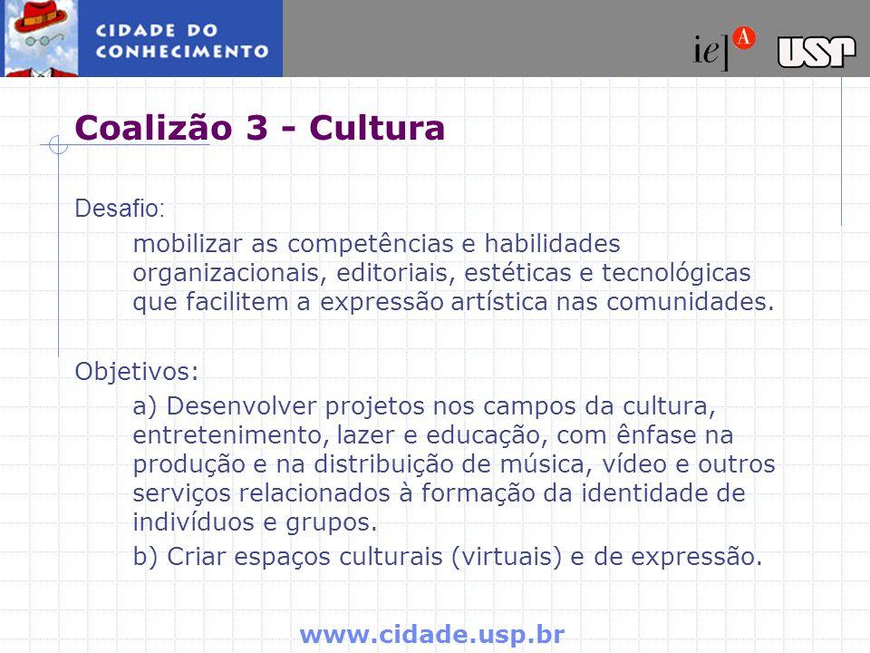Coalizão 3 - Cultura Desafio: