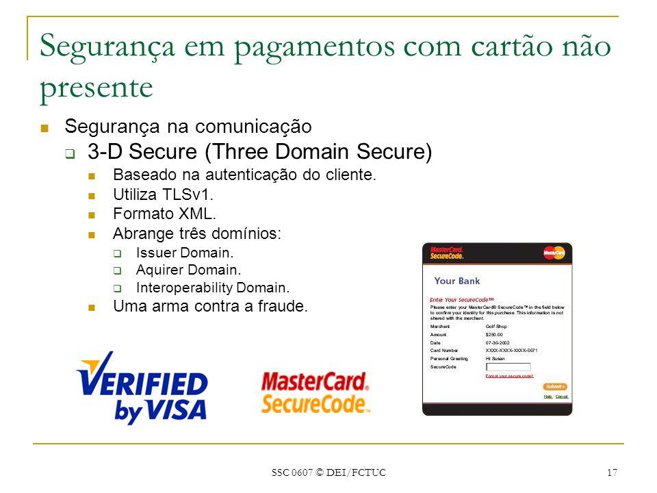 Segurança em pagamentos com cartão não presente