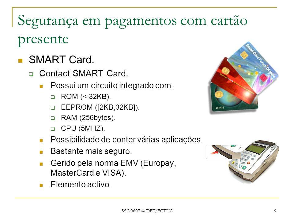 Segurança em pagamentos com cartão presente