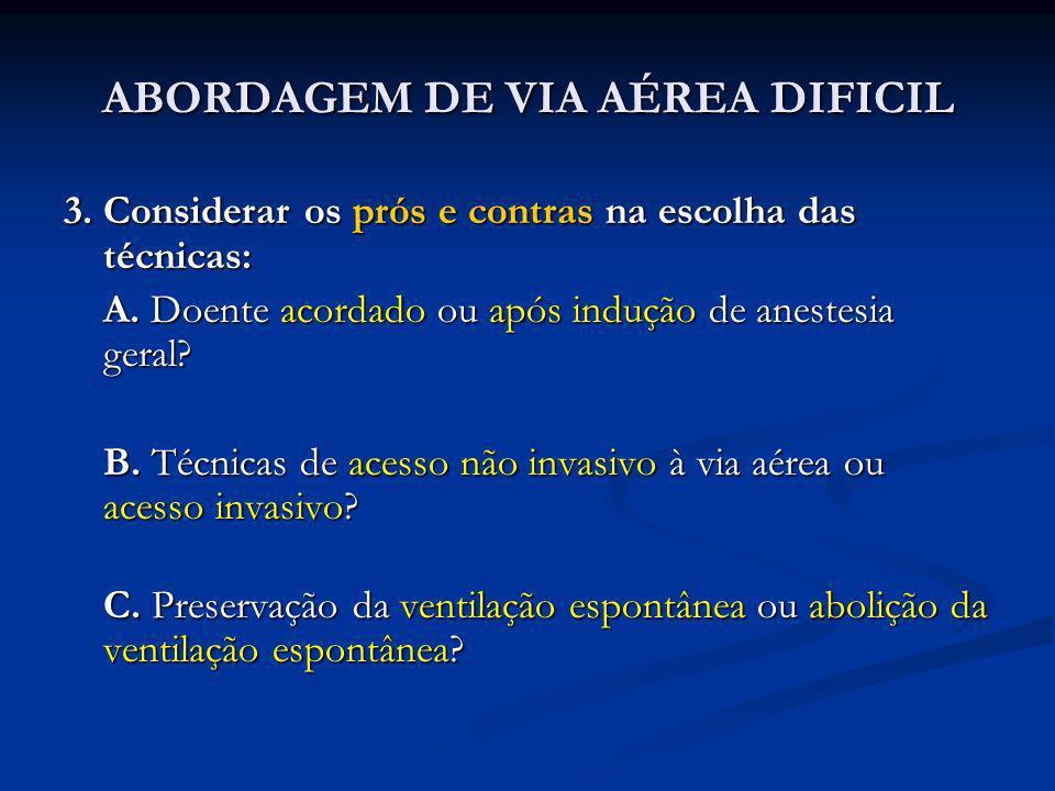 ABORDAGEM DE VIA AÉREA DIFICIL