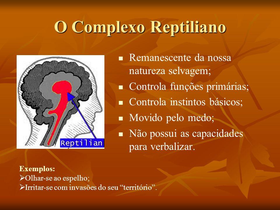 O Complexo Reptiliano Remanescente da nossa natureza selvagem;