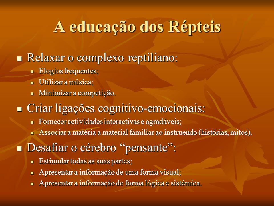 A educação dos Répteis Relaxar o complexo reptiliano: