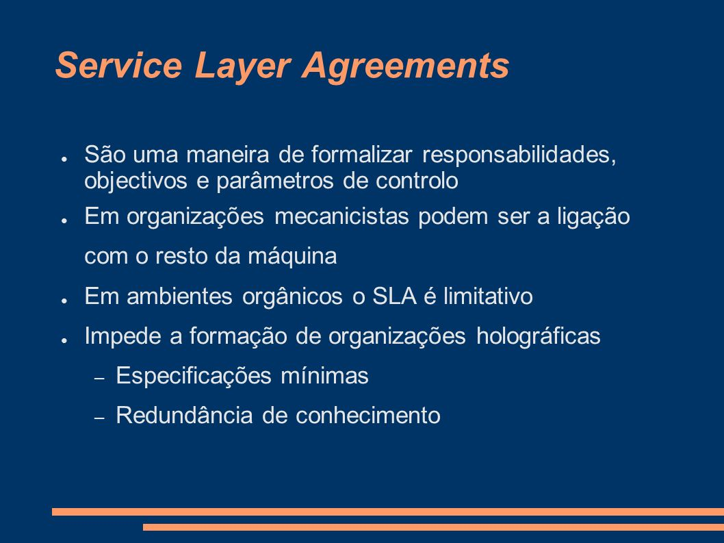 Service Layer Agreements