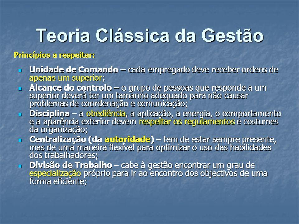 Teoria Clássica da Gestão