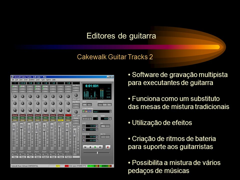 Editores de guitarra Cakewalk Guitar Tracks 2